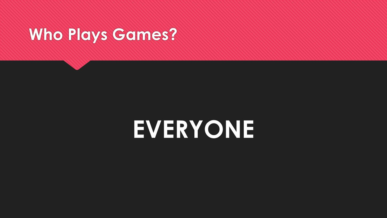 Who Plays Games? EVERYONE