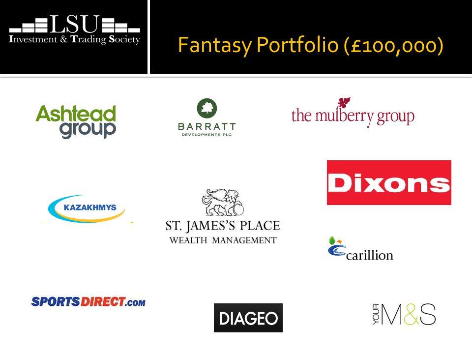 Fantasy Portfolio (£100,000)