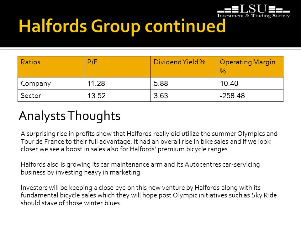 A surprising rise in profits show that Halfords really did utilize the summer Olympics and Tour de France to their full advantage.