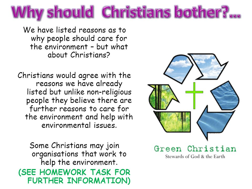 We have listed reasons as to why people should care for the environment – but what about Christians.