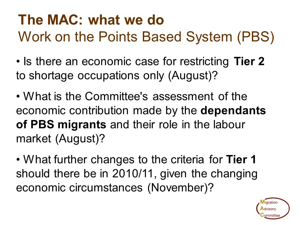 Is there an economic case for restricting Tier 2 to shortage occupations only (August)? What is the Committee's assessment of the economic contributio