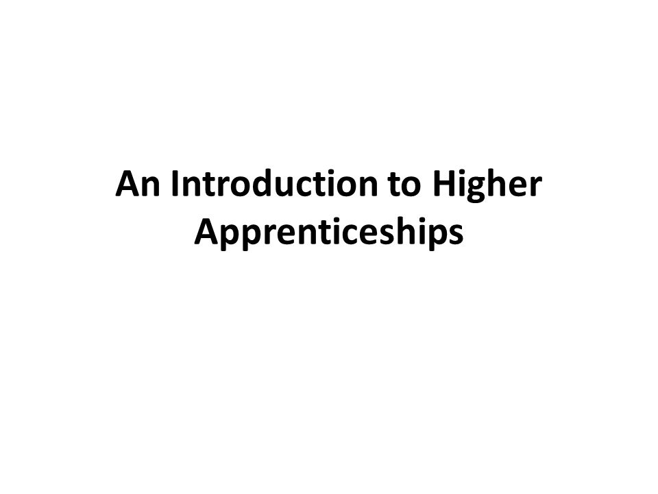 What is an Apprenticeship.