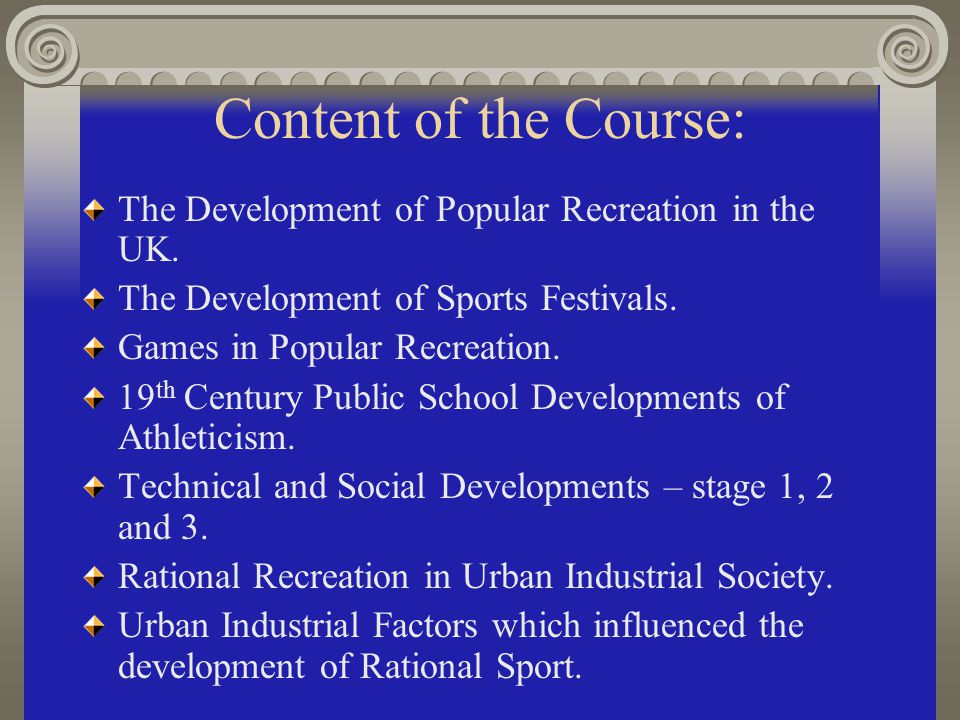 Historical Issues in Sport and PE The Syllabus