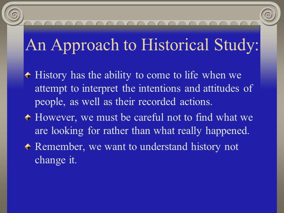 An Approach to Historical Study: The study of sports history can stand on its own as it increases the knowledge and understanding of people and situations in the past.