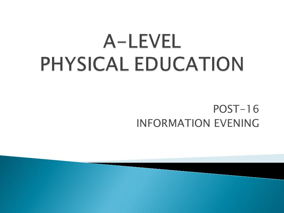 POST-16 INFORMATION EVENING