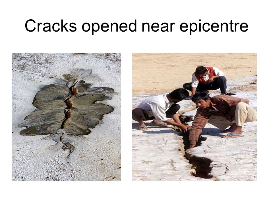 Cracks opened near epicentre