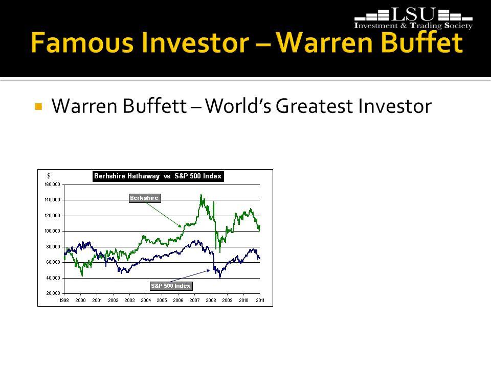  Warren Buffett – World's Greatest Investor