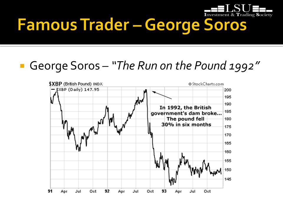  George Soros – The Run on the Pound 1992