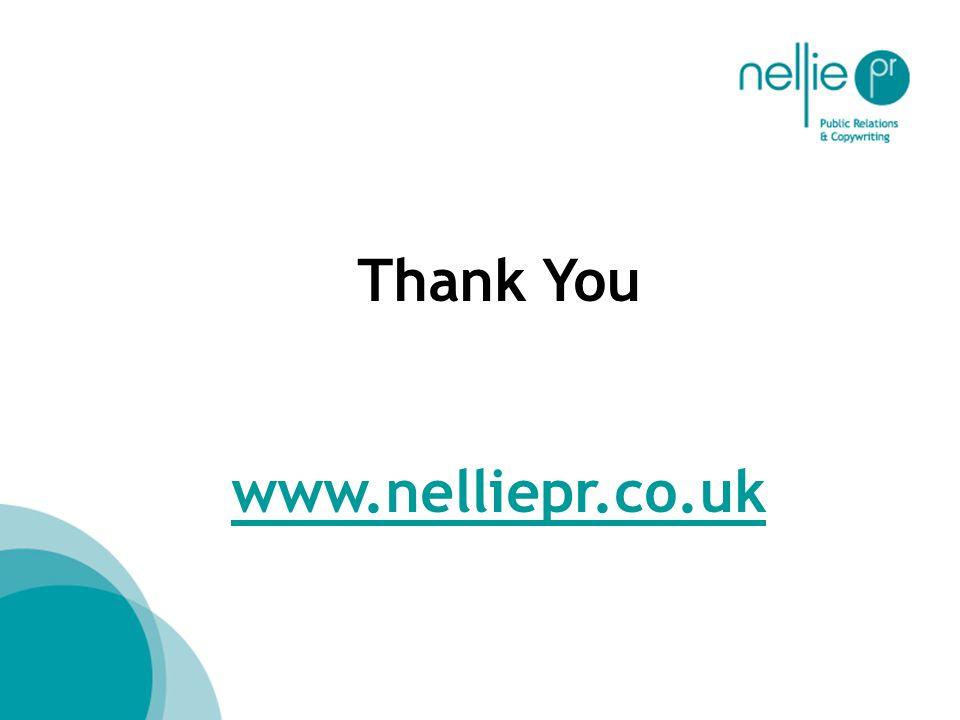 Thank You www.nelliepr.co.uk
