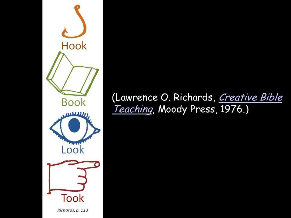 (Lawrence O. Richards, Creative Bible Teaching, Moody Press, 1976.)Creative Bible Teaching