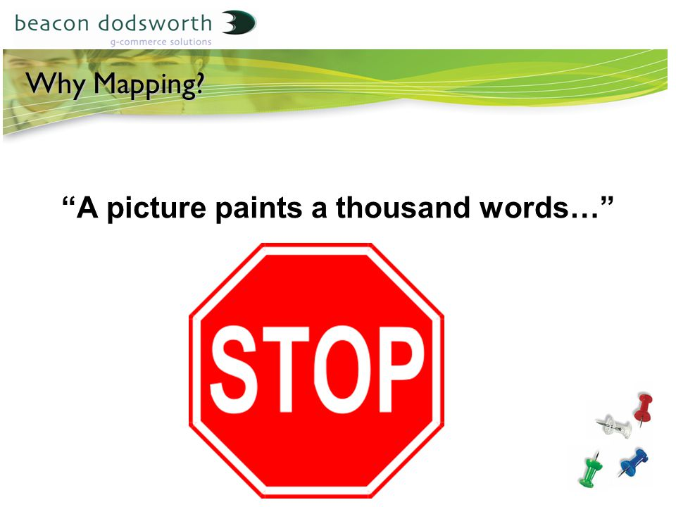 Why Mapping A picture paints a thousand words…