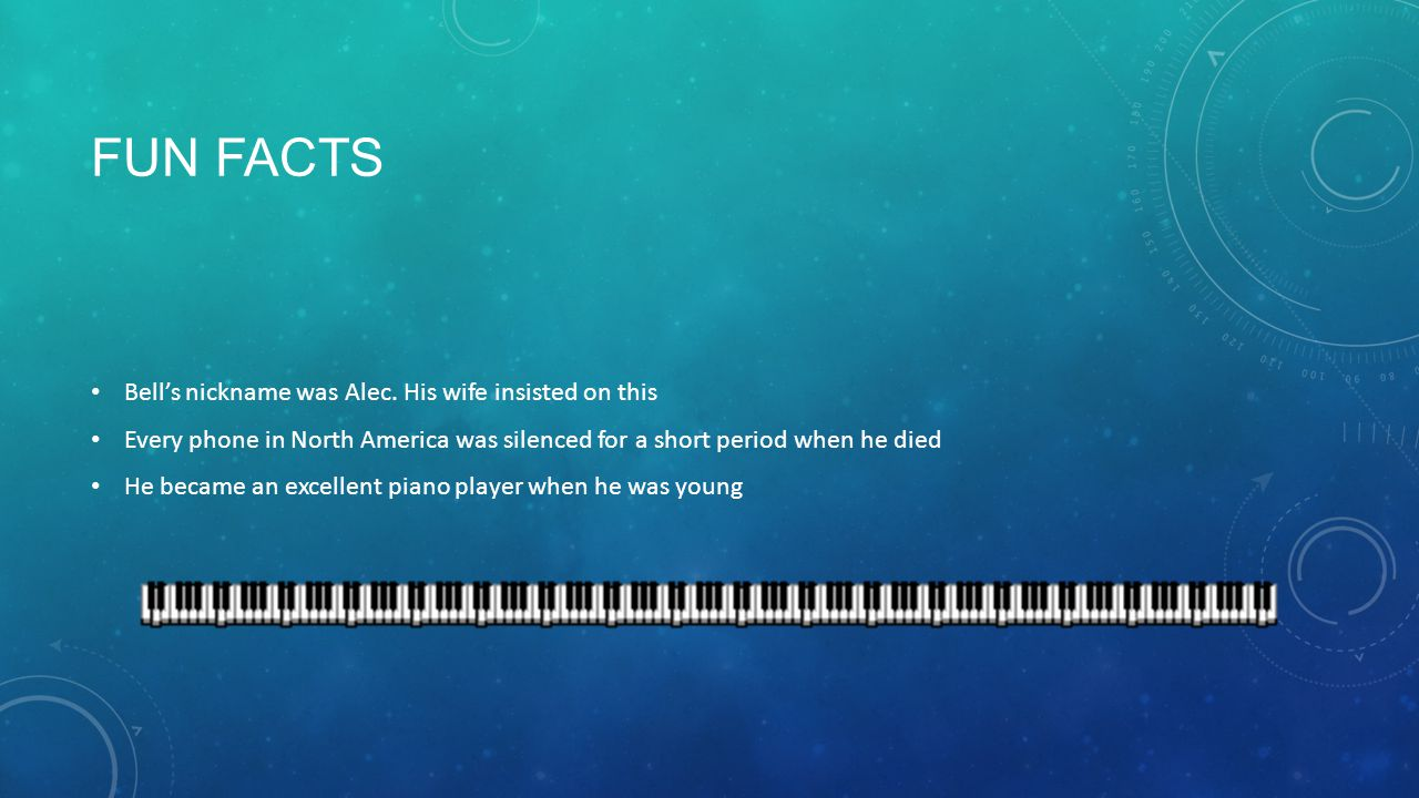 FUN FACTS Bell's nickname was Alec.