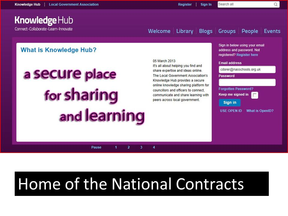 Home of the National Contracts