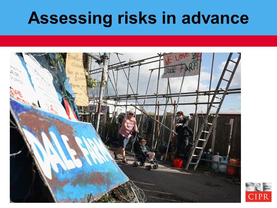 Assessing risks in advance