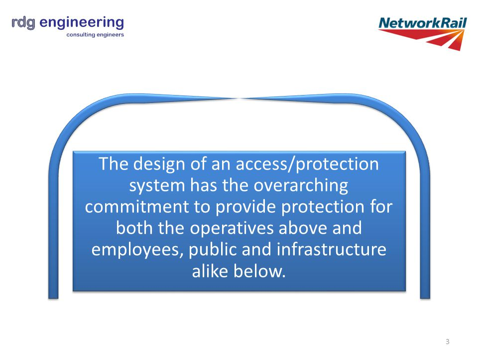 The design of an access/protection system has the overarching commitment to provide protection for both the operatives above and employees, public and infrastructure alike below.
