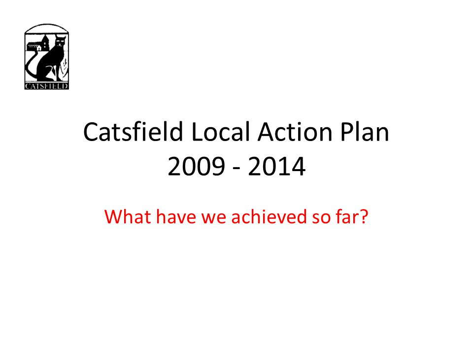 Catsfield Local Action Plan 2009 - 2014 What have we achieved so far