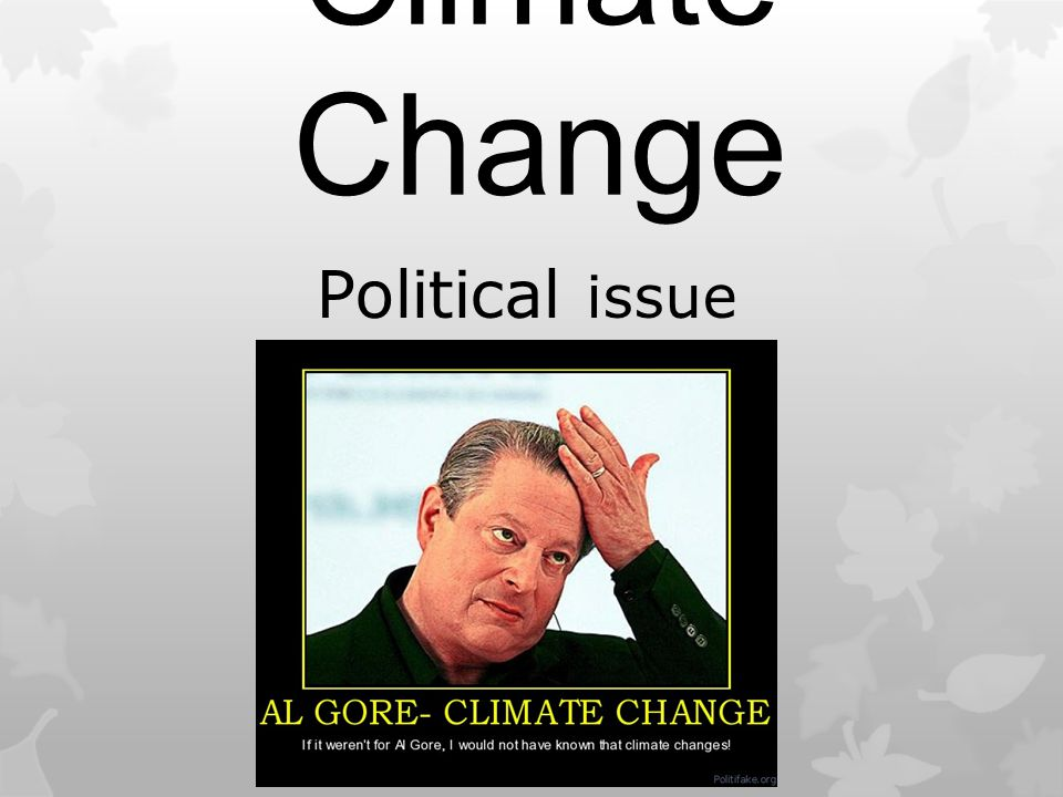 Climate Change Political issue