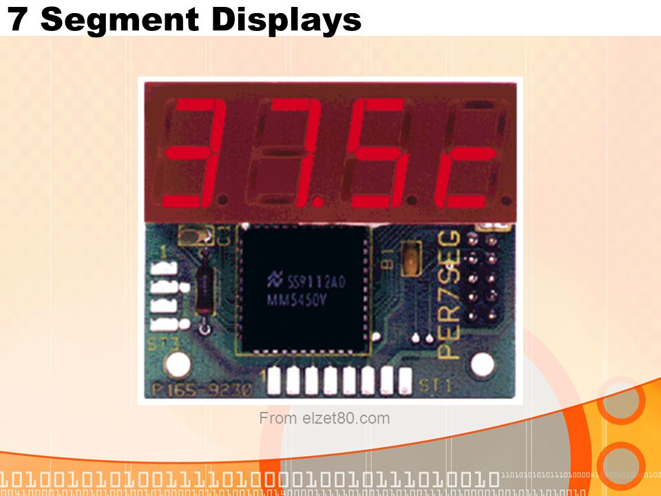 7 Segment Displays From elzet80.com