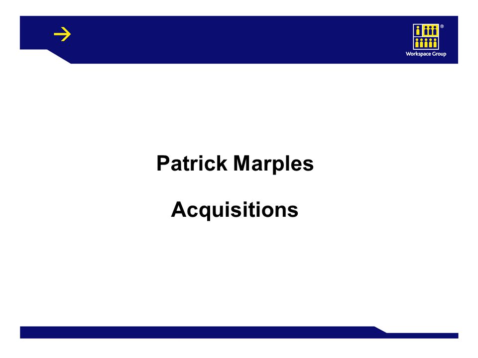 15 Patrick Marples Acquisitions