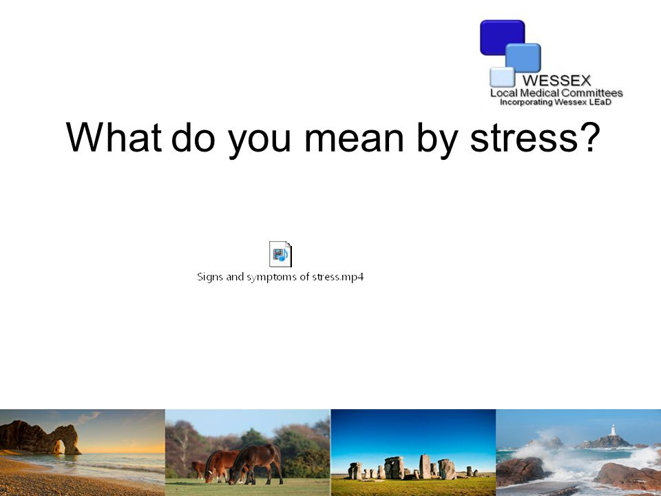 Group task  Think about what causes you the most stress in a normal working day.