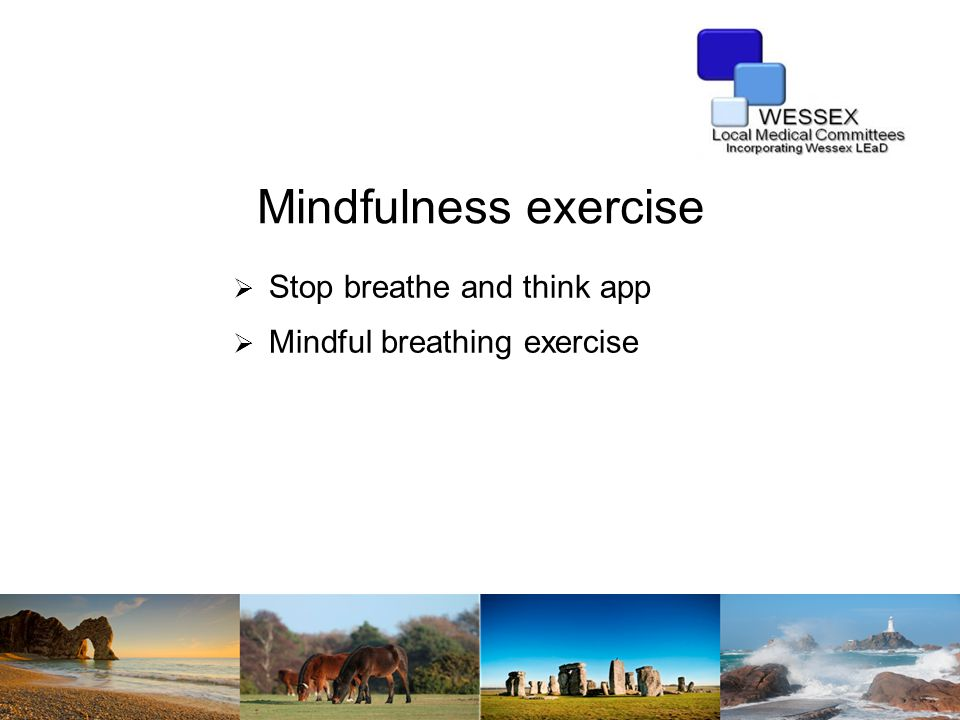 Mindfulness exercise  Stop breathe and think app  Mindful breathing exercise
