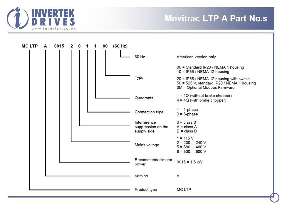 Movitrac LTP A Part No.s