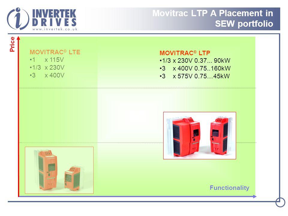 Price MOVITRAC ® LTE 1 x 115V 1/3 x 230V 3 x 400V MOVITRAC ® LTP 1/3 x 230V 0.37...
