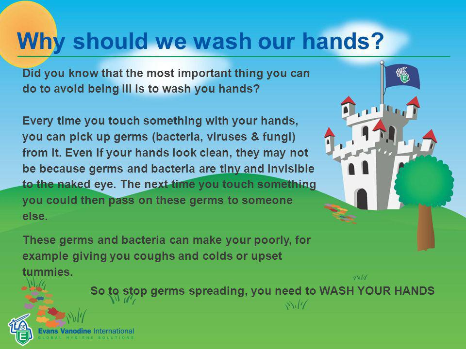 Why should we wash our hands.