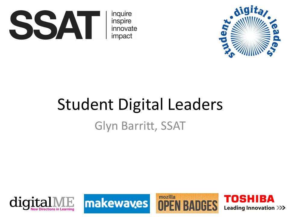Student Digital Leaders Glyn Barritt, SSAT