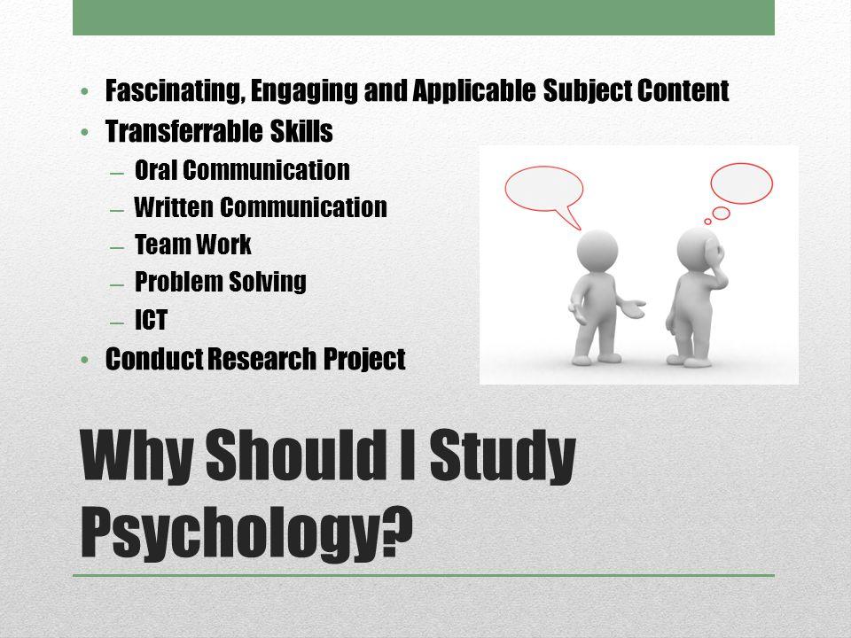 Why Should I Study Psychology.