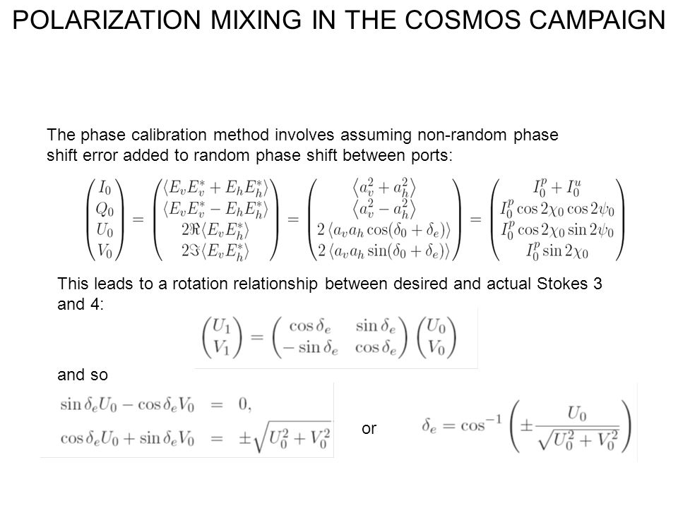 The phase calibration method involves assuming non-random phase shift error added to random phase shift between ports: This leads to a rotation relati