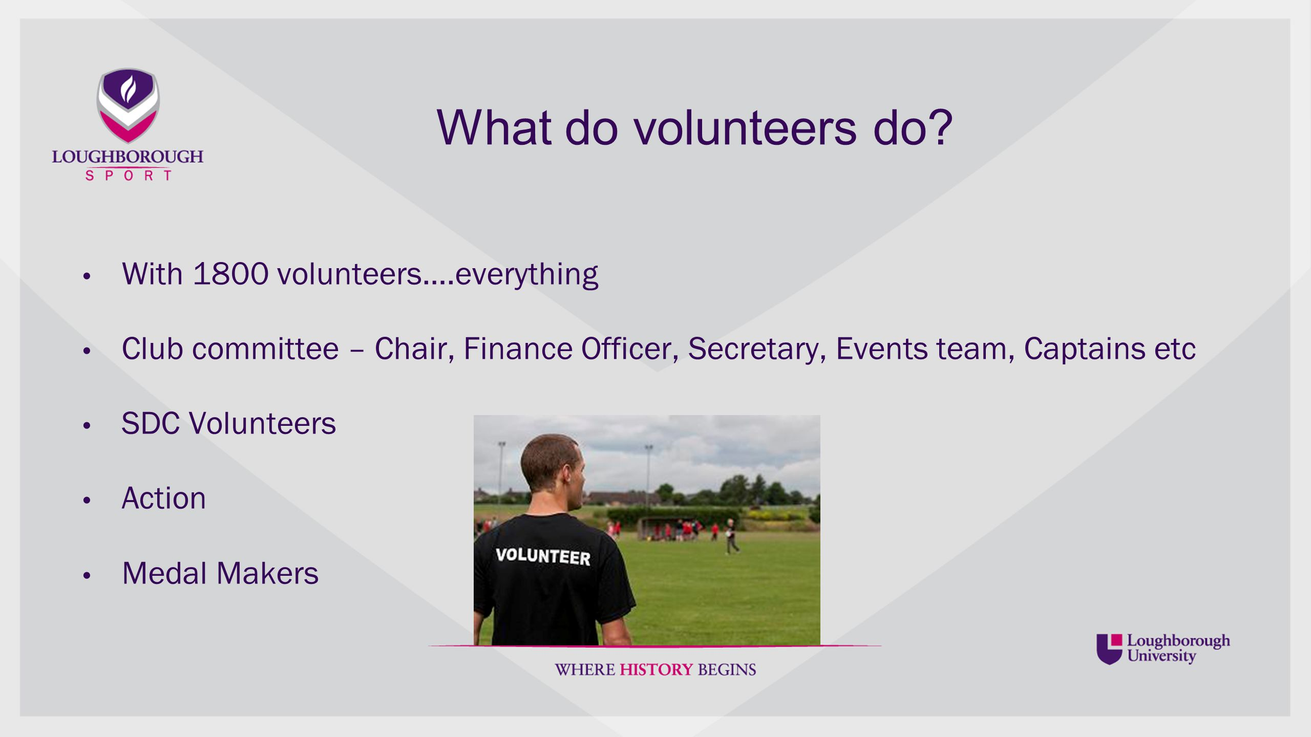 Your Committee Who are you volunteering with.Why is it important to know who you are working with.