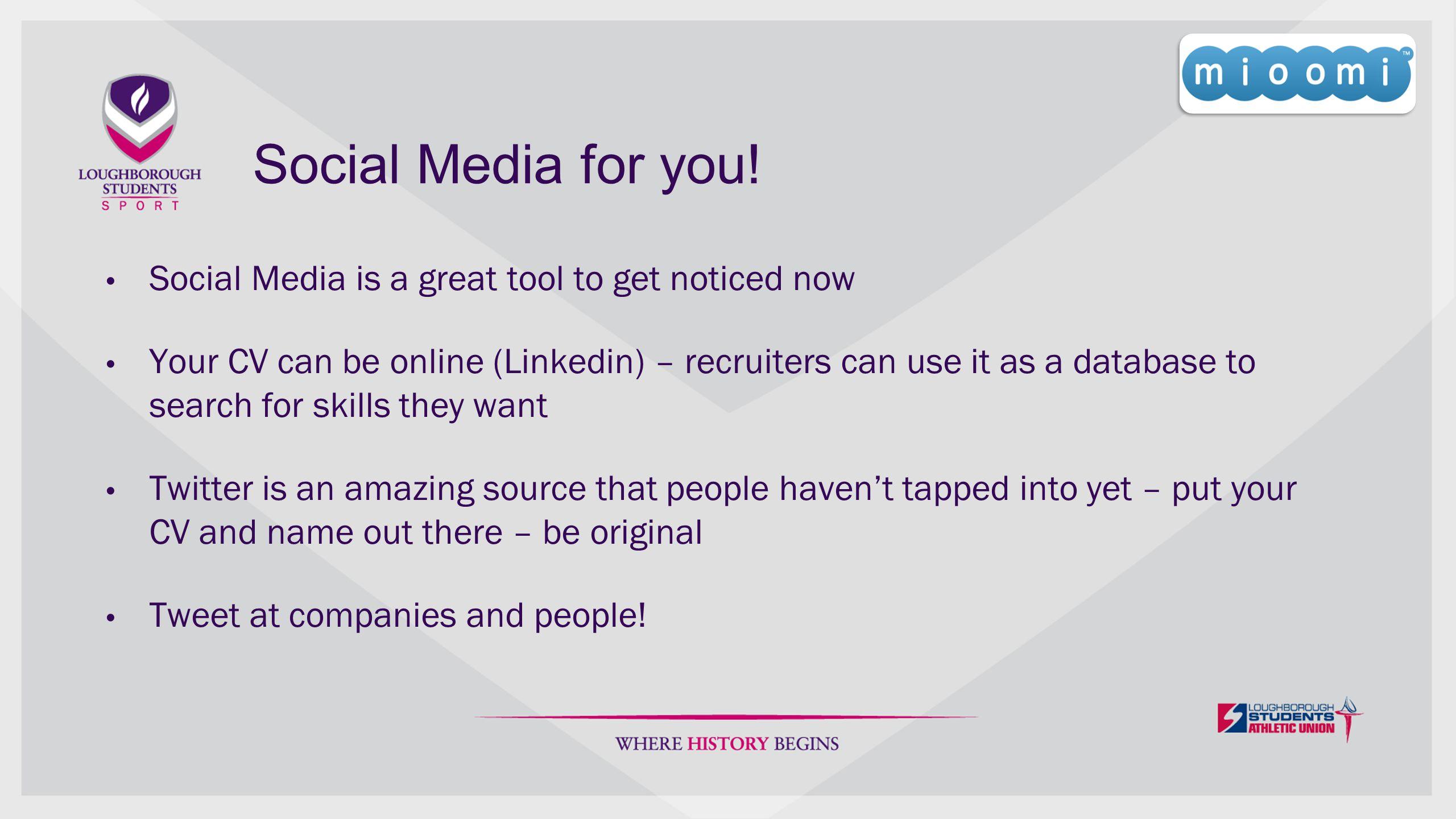 Social Media for you.