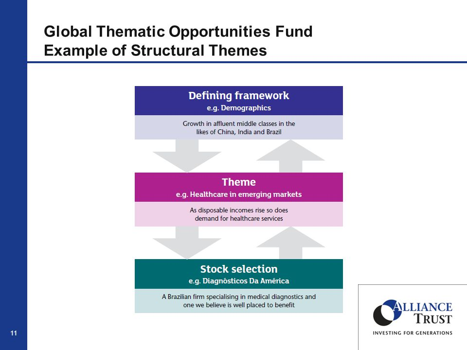 11 Global Thematic Opportunities Fund Example of Structural Themes