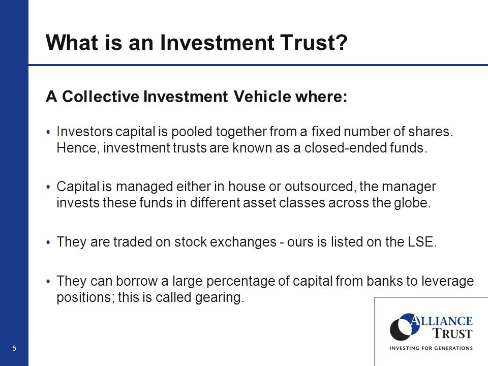 5 What is an Investment Trust.