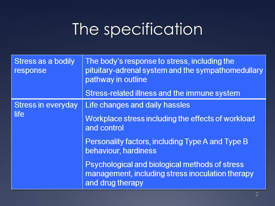 The specification 2