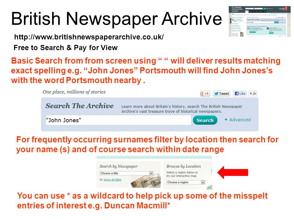 19 th Century British Library Newspapers Basic Search from from screen using will deliver results matching exact spelling e.g.