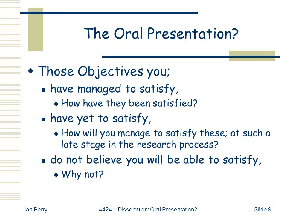Dissertation Powerpoint Presentation