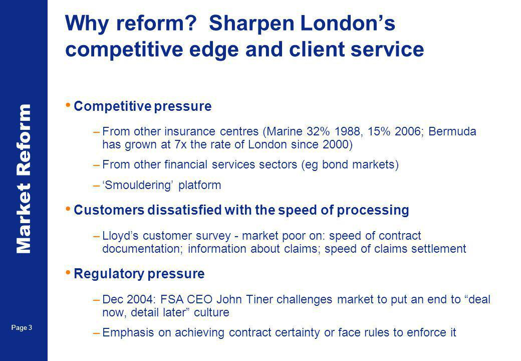 Market Reform Page 3 Why reform.