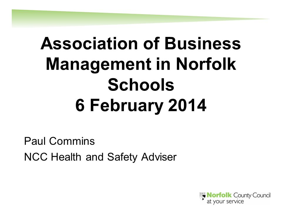 In the next half hour Red tape and sensible risk management NCC systems to support and improve schools' health and safety performance Questions
