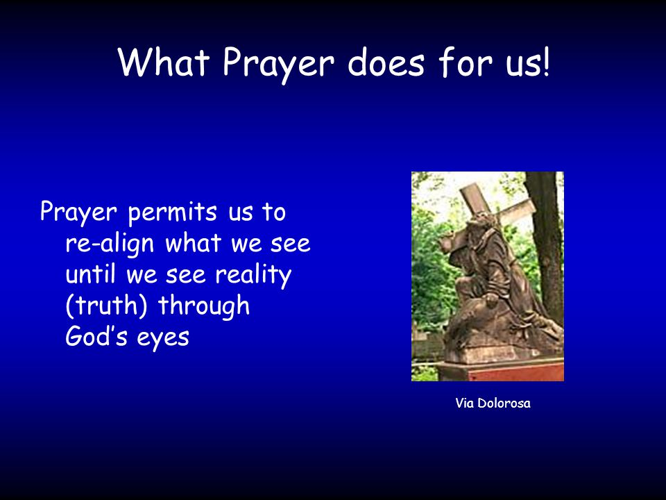What Prayer does for us.