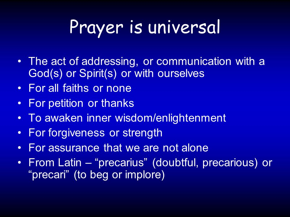 An Experienced Christian's Conclusion on Prayer Prayer is simply talking to God.
