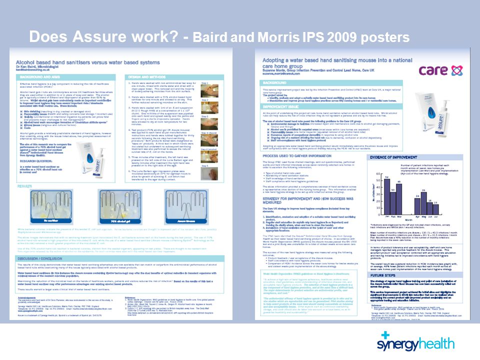 Does Assure work - Baird and Morris IPS 2009 posters