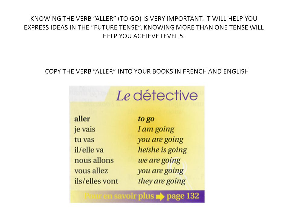 KNOWING THE VERB ALLER (TO GO) IS VERY IMPORTANT.