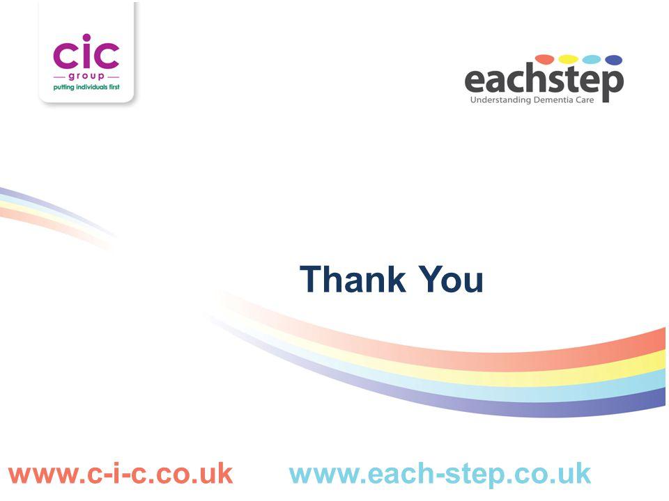 Thank You www.c-i-c.co.uk www.each-step.co.uk