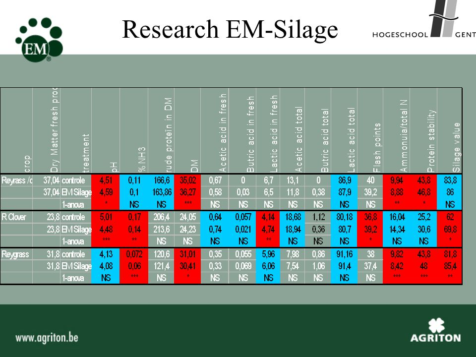 Research EM-Silage