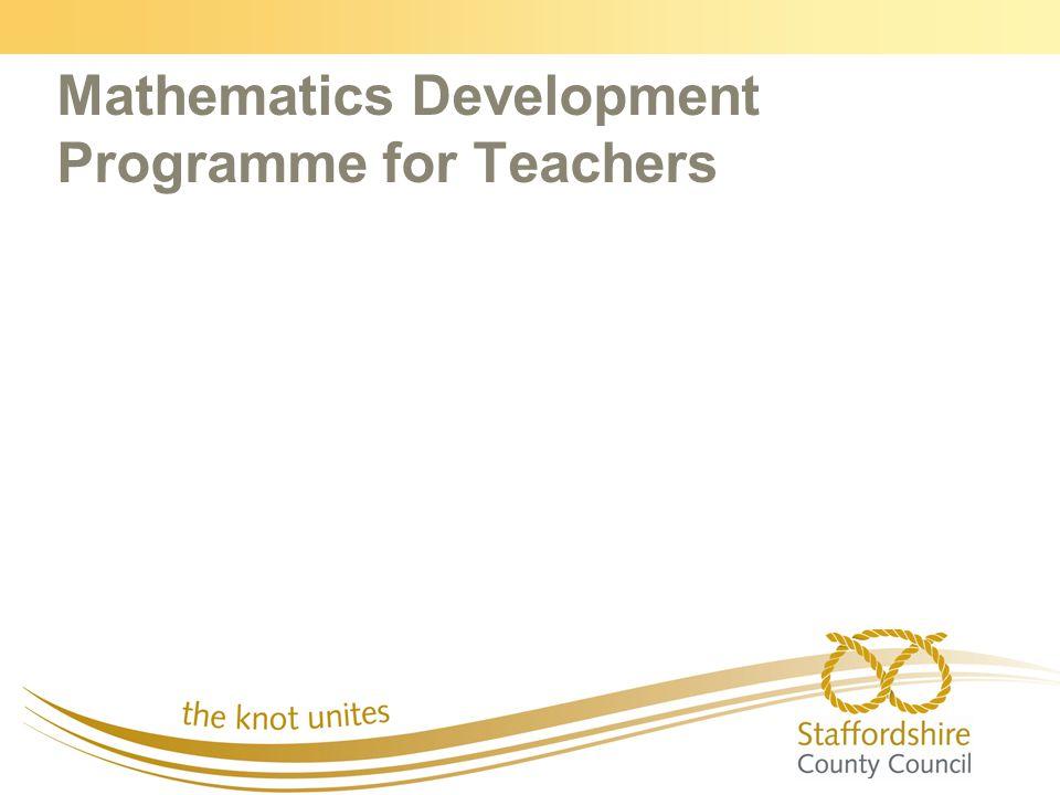Mathematics Development Programme for Teachers