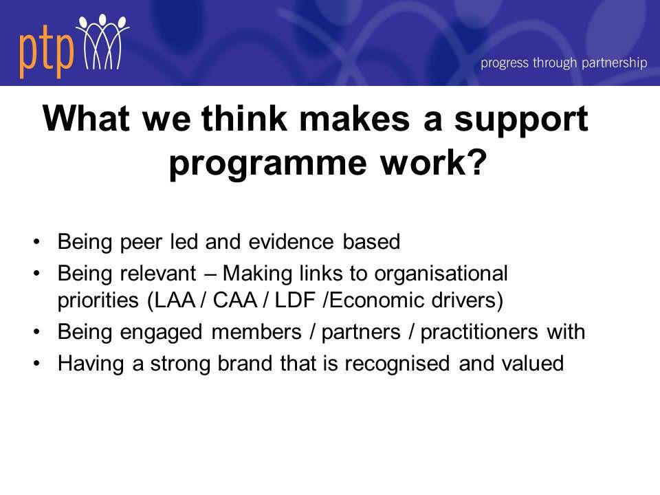 What we think makes a support programme work.