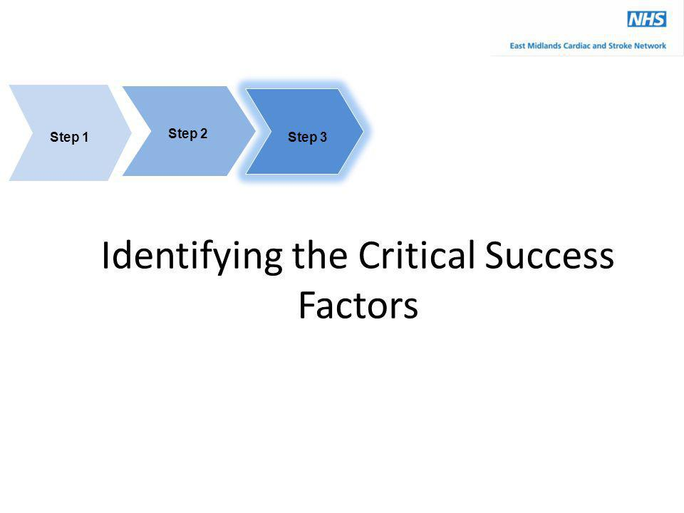 Identifying the Critical Success Factors Step 3 Step 1 Step 2