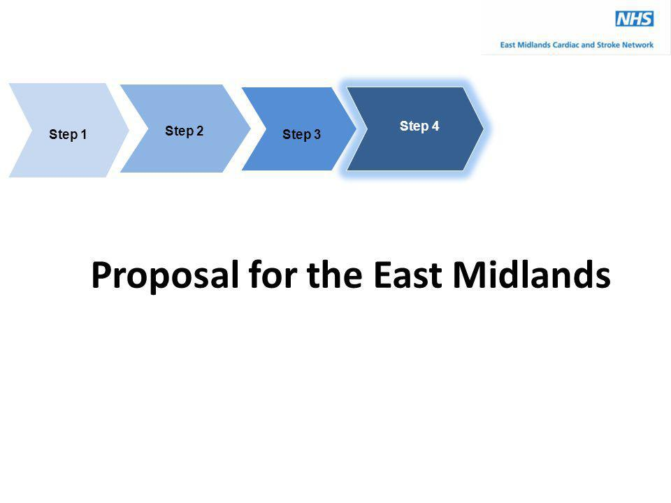 Proposal for the East Midlands Step 3 Step 1 Step 2 Step 4